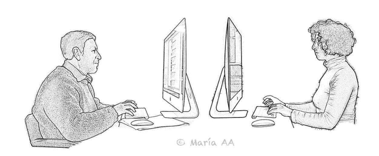 Fernando y Maria estan trabajando en la web